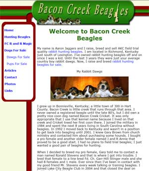 Bacon Creek Beagles for Sale Kentucky