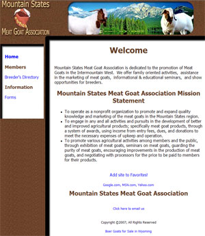 Mountain States Meat Goat Association