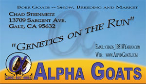 Alpha Goats Busines Card