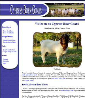 Thumbnail Screenshots / Portfolio of (mostly boer goat web